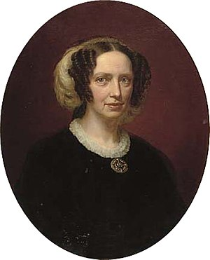 Princess Charlotte of Denmark - Portrait by August Schiøtt, c. 1830-39
