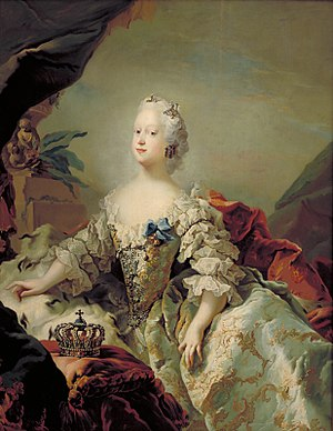 Louise of Great Britain - Louise aged 23 by Carl Gustav Pilo, 1747