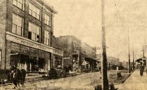 Chatham, Virginia - Lower Main Street, Chatham, February 1911