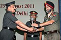 Lt. Gen. Chetinder Singh, AVSM, SM, VSM, QMG and Col. Comdt. Army Postal Services, giving away the Army Post Awards 2011, at a function, in New Delhi on August 25, 2011.jpg