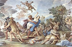 Proserpina - Rape of Proserpenie, by Luca Giordano