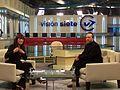 Lufrano y Jimbo Wales, creador de la Wikipedia.jpg