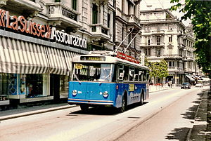 Trasporti Pubblici Luganesi - An early trolleybus still in service in 1994