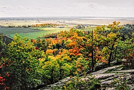 Pontiac as seen from the Gatineau Hills.