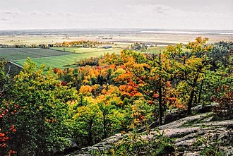 Pontiac, Quebec - Pontiac as seen from the Gatineau Hills