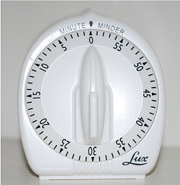 "Lux brand ""Minute Minder"" mechanical kitchen timer"