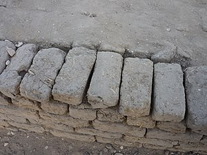 Sebakh - 30th Dynasty mudbricks excavated in Luxor. Ancient mudbricks are a common source of sebakh