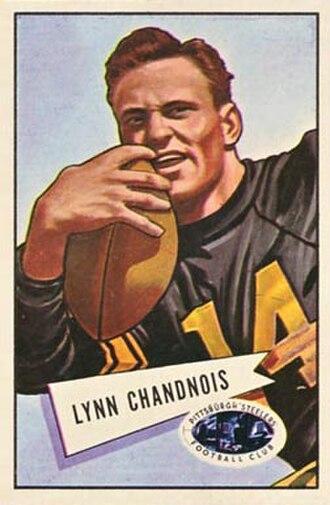 Lynn Chandnois - Chandnois on a 1952 Bowman football card