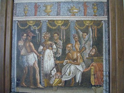 MAN mosaici da Pompei attori 1040619