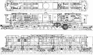 Milwaukee Road class EP-3 - General arrangement drawing.