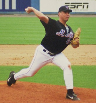 Mark Leiter - Leiter with the New York Mets during spring training in 2001