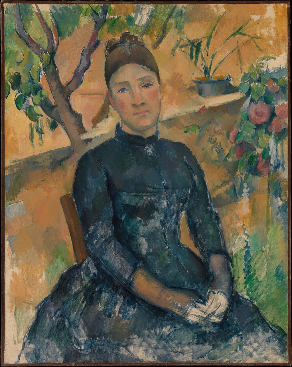 Madame Cézanne (Hortense Fiquet, 1850–1922) in the Conservatory MET DP317780
