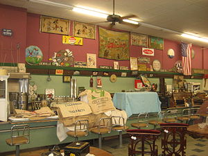 Old Woolworth's lunch counter, now a antiques/...