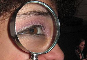 magnifying glass showing aberration