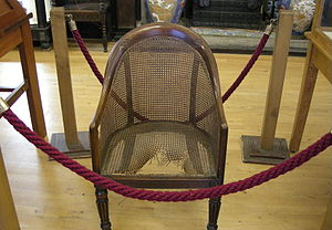 Maidstone Museum & Art Gallery - Napoleon's chair