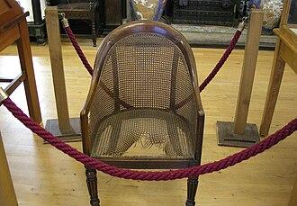 Maidstone Museum & Art Gallery - Napoleon's chair