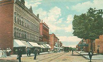 Conneaut, Ohio - Main Street in 1909