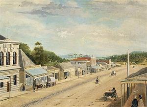 Daylesford, Victoria - J. Tenseld, Main Street, Daylesford, 1862, State Library of Victoria