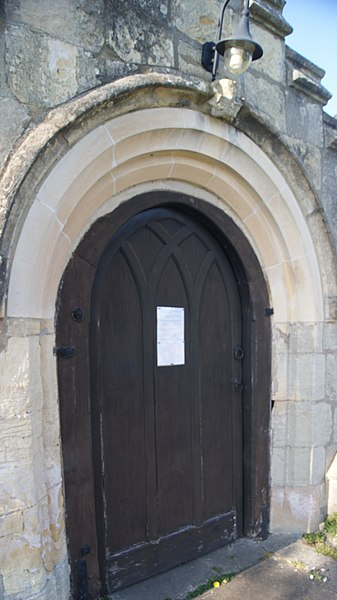File:Main door with Coronavirus notice, All Saints' Church, Kirk Deighton (16th April 2020) 001.jpg