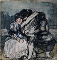 Majo y maja sentados, Francisco de Goya.jpg