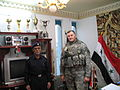 Major General Abdul Abass Shalal Al Diwaniyah Police Chief and SGM Rock Shiffer.jpg