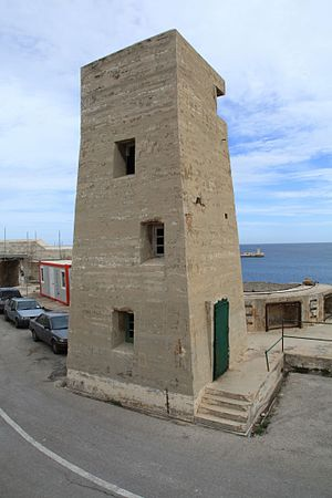 Fire control tower - World War II-era fire control tower at Fort Saint Elmo, Malta