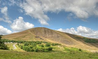 Mam Tor hill near Castleton in the High Peak of Derbyshire, England