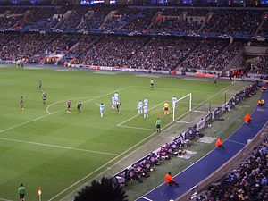 Manchester City F.C. - Manchester City against Bayern Munich in the UEFA Champions League in 2011
