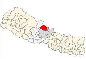 Manang District i Gandaki Zone (grå) i Western Development Region (grå + lysegrå)
