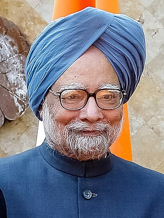 Turban - Manmohan Singh, the former Prime Minister of India, wearing a Sikh turban. The turban is one of the most recognized symbols of the Sikh community.