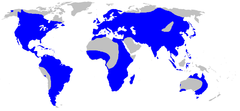 Alismataceae distribution map