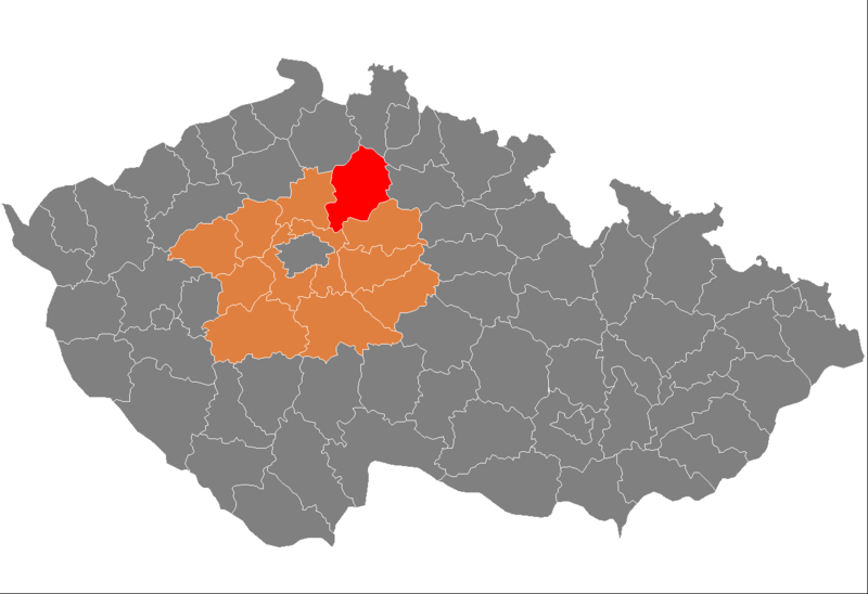 Ficheiro:Map CZ - district Mlada Boleslav.PNG