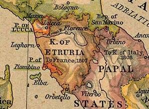 Map Kingdom of Etruria