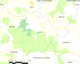 Map commune FR insee code 58030.png