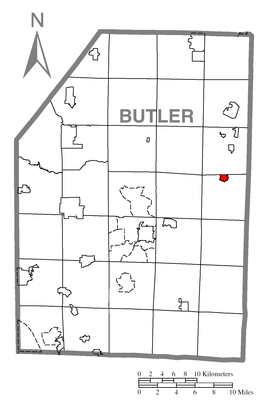 Map of Chicora, Butler County, Pennsylvania Highlighted.png