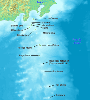 Kōzu-shima - Image: Map of Izu Islands