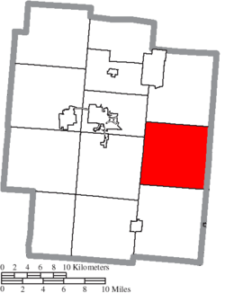 Location of Bloomfield Township in Jackson County