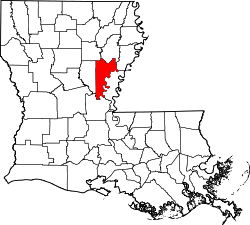 Map of Louisiana highlighting Catahoula Parish.svg