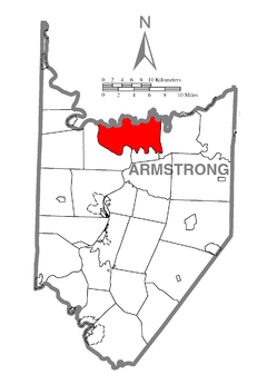 Map of Madison Township, Armstrong County, Pennsylvania Highlighted.png