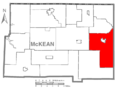 Map of McKean County Highlighting Liberty Township.PNG