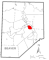 Map of Monaca, Beaver County, Pennsylvania Highlighted.png