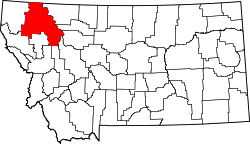 map of Montana highlighting Flathead County