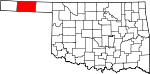 State map highlighting Texas County