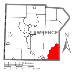 Perry Township, Lawrence County, Pennsylvania - Image: Map of Perry Township, Lawrence County, Pennsylvania Highlighted