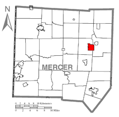Map of Stoneboro, Mercer County, Pennsylvania Highlighted.png