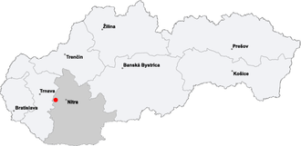 Báb, Nitra District - Location of Báb in Slovakia