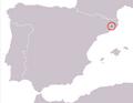 Mapa Calotriton arnoldi.png