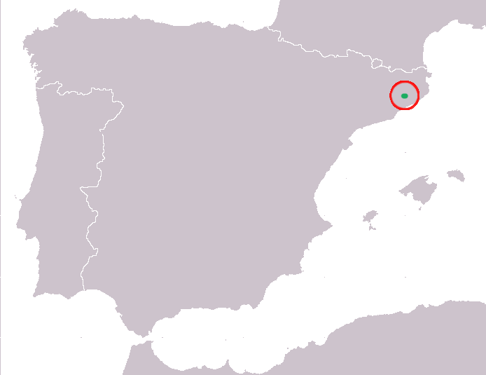 Mapa Calotriton arnoldi