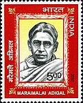 Maraimalai Adigal 2007 stamp of India.jpg