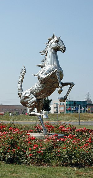 Maranello - The Prancing Horse, symbol of Ferrari